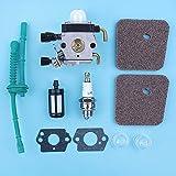 HaoYueDa Kit de Juntas de Bombilla de imprimación de Combustible de Aire para carburador Compatible con Stihl FS38 FS45 FS46 FS55 KM55 FS85 FS55R FS55RC FS45C FS55T Desbrozadora