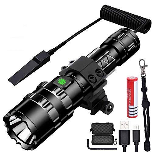 XCHJY Portable Flashlight 1600 Lumens USB Rechargeable Torch Waterproof Hunting Light With Clip For Hunting Cycling Outdoor Sports Accessories (Color : Type 4)