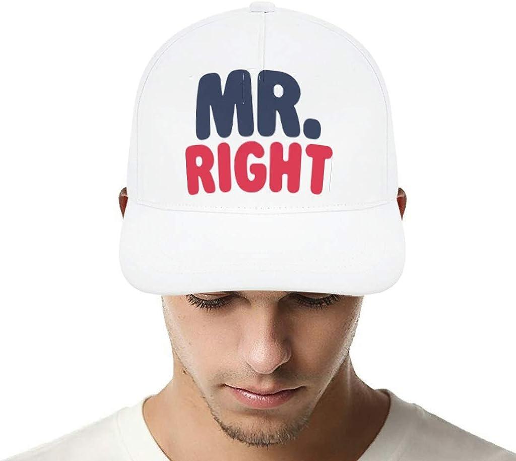 ChengMaR Mr Right Blue Red Cap Adjustable Baseball Hat for Women Men