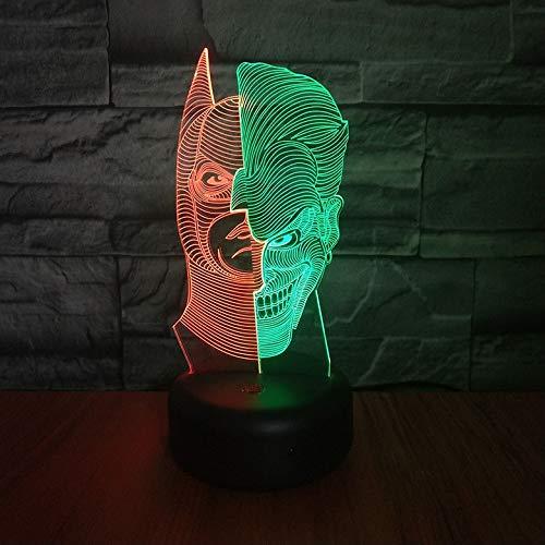Joker 3D lampe de nuit Batman Hit couleur Hoom Decor chambre lampe décorative enfant enfants veilleuse cadeau super-héros LED veilleuse