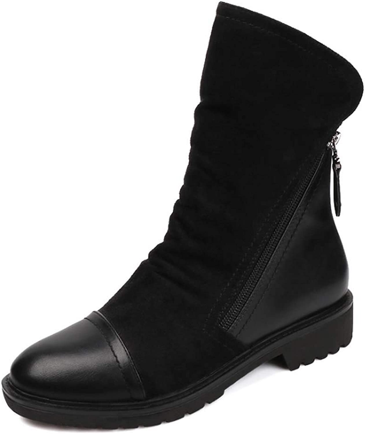 2d139bfd8a Women Martin Boots Leather Waterproof Classic Lace Short Ankle Boot Ladies  Casual Comfortable Low shoes Classic