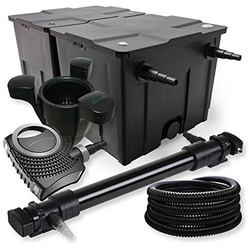 SunSun Kit de Filtration de Bassin 60000l 72W UVC Stérilisateur Neo 80W Pompe Tuyau Skimmer