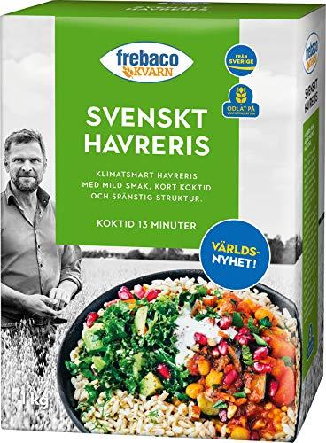 Frebaco KVARN Schwedischer Haferreis 1kg x 8 Pack - Reis Alternative aus Hafer - Garzeit 13 Minuten