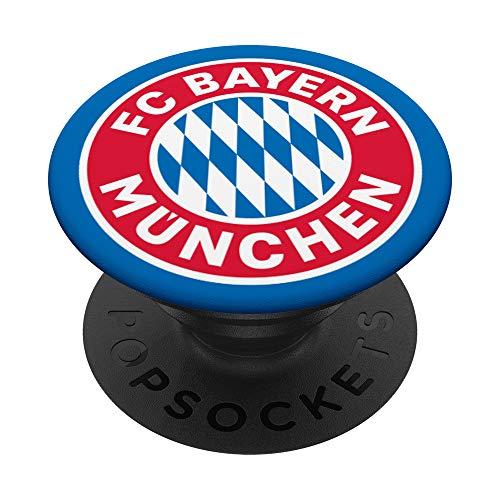 FC Bayern München Logo PopSockets PopGrip: Ausziehbarer Sockel und Griff für Handys/Tablets mit Tauschbarem Top