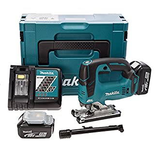 Makita DJV182RMJ 18 V Li-ion LXT Brushless Jigsaw Complete with 2 x 4.0 Ah Li-ion Batteries and Charger in a Makpac Case (B00M215M4E) | Amazon price tracker / tracking, Amazon price history charts, Amazon price watches, Amazon price drop alerts