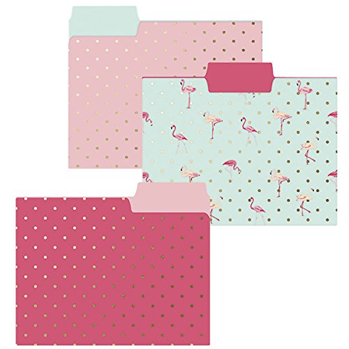 Flamingo File Folders are a fun small home office idea