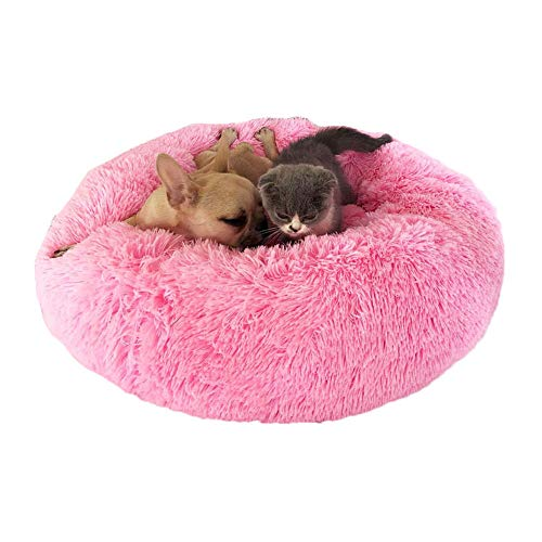 Panier rond pour chien confortable pour dormir en hiver