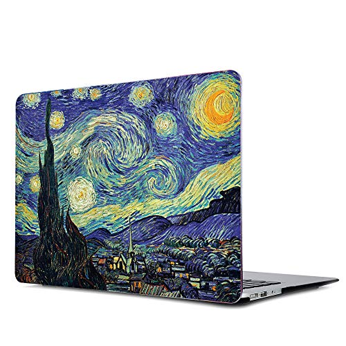 Gusumi Old MacBook Pro 13' Case Retina 2012-2015 Release, Painting Pattern Matte Hard Case Cover A1502/A1425, Van Gogh