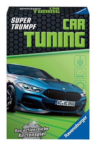 Ravensburger Kinderkartenspiele 20684 - Kartenspiel, Supertrumpf Car Tuning, Quartett und Trumpf-Spiel für Technik-Fans ab 7 Jahren
