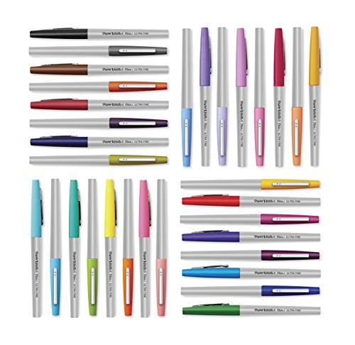 Papermate Flair Porous Point Stick Free-Flowing Liquid Pens, Blue Ink, Ultra Fine Point, Dozen, DZ - PAP8310152 Photo #8
