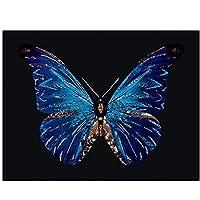 JXRDG ダイヤモンドモザイクバタフライクロスステッチの家の装飾、正方形のダイヤモンド刺繡動物ダイヤモンド絵画針仕事手工芸品40x50cmフレームなし