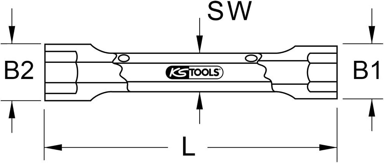 KS Tools 963.8405 BRONZEplus 6-kant-Steckschlüssel 30x36 mm doppelseitig B00QU7OWJ2 | Rich-pünktliche Lieferung