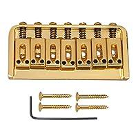 Perfeclan レンチ付きの亜鉛合金7弦ギターブリッジに適用Elericギターベースパーツ - ゴールド