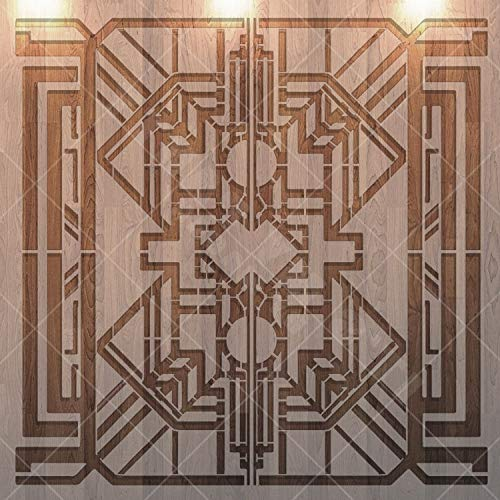 Geometric Reusable Stencil for Painting on Wood, Wall, Furniture, Airbrush Drawing Pattern/Design: Great Gatsby, Art Decor Material: Plastic, Mylar Size: 8 x 8