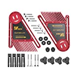 Boloniprod 2 Pack Featherboard Double Feather Loc Board Adjustable Woodworking Safety Device Feather-Loc for Stationary Power Cutting Tools Table Saw Radial-Arm Saw Router Table (Red)
