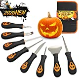 GoStock Pumpkin Carving Kit, 2020 New Halloween Professional Pumpkin Carving Tools With Carrying Case, Duty Stainless Steel Pumpkin Carver Knife Set for Halloween