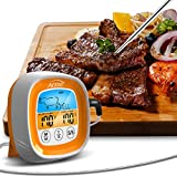 <span class='highlight'><span class='highlight'>AOZBZ</span></span> Digital Meat Food Thermometer, Suitable for Smoked Confectionery Food Barbecue and Kitchens Thermometers, Touch LCD Display Screen with Bracket and High Temperature Resistant Waterproof Probe