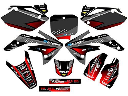 Senge Graphics Kit Compatible with Honda 2007-2020 CRF 150R, Surge Black Graphics kit
