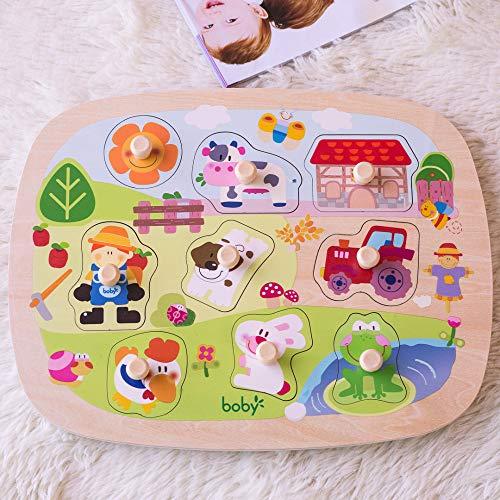 Rompecabezas De Madera Rompecabezas Cognitivo Para BebéS Juguetes De Madera 1-2-3 AñOs De Edad Aprendizaje Preescolar