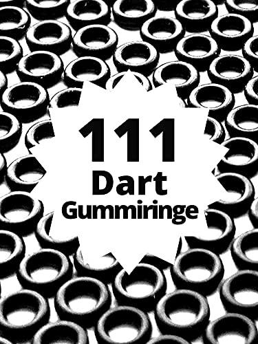 pro darts - Das ORIGINAL - 111 Profi Dart Gummiringe für höchst optimalen Halt der Schäfte + Anleitung - Leichtes Aufziehen ganz ohne Werkzeug
