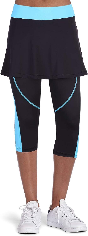 Anivivo Women Tennis Legging, Skirted Capri Leggings Tennis Pants for Women