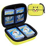 Borya Card Storage Case Compatible with Pokemon TCG Card,Five Crowns Card Games,Phase 10 Card Game, Card Game Holder Storage Holds Up to 400 Cards. (Yellow)