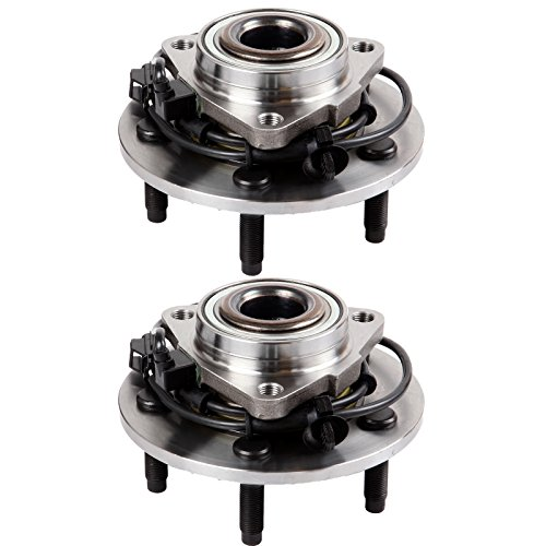 Price comparison product image SCITOO Both(2) 515073 New Front Wheel Bearing Assembly Hub for Dodge RAM 1500 2002 2003 2004 2005 2006 Axle Hub Bearing Assembly Kit 5 Lugs W / ABS