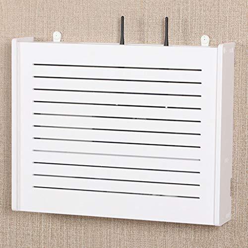Weiß Wandregal Wand Schwimmendes Regal Wifi Router Aufbewahrungsbox Wand Hintergrund Dekorrahmen Fernsehschrank Fernsehkonsole Fernsehregal Kabelbox ( Color : B , Size : 42*32*7.5cm )