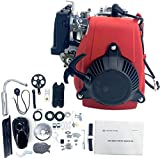 Lfhelper Bicycle Engine Kit 49cc 4-Stroke Motor Gas Petrol Motorized Bike Motor Kit Model 142F Air-Cooled OHV Single Cylinder for 26 inch Frame Adult Bicycles
