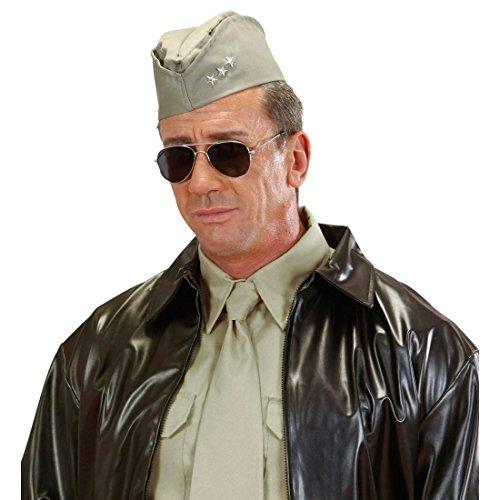 NET TOYS US Soldat Schiffchen Hut WW2 Soldaten Mütze Soldatenmütze USA Militärmütze Offizier Kopfbedeckung Uniform Kostüm Zubehör