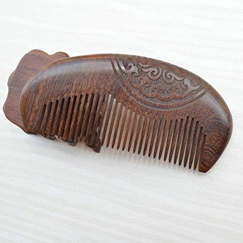 BDFA Brosse à Cheveux Bois Peigne Poche Bois de Santal Anti Statique