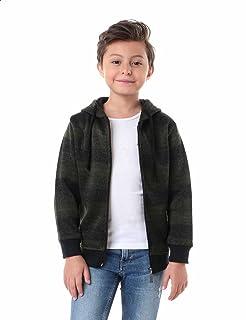 Kady Striped Elastic Trims Long Sleeves Hooded Unisex Jacket