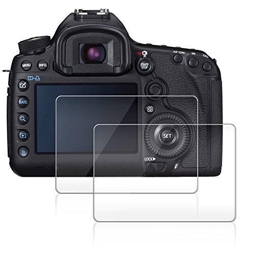 Kamera Display Schutz für Canon EOS 5D Mark III MK 5DS 5DSR 5DIII, AFUNTA 2 Pack Anti-Kratzer gehärtetes Glas für DSLR-Kamera