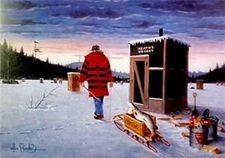 Peck and Gartner Darkhouse Finale Les Kouba Ice Spearing Art Print