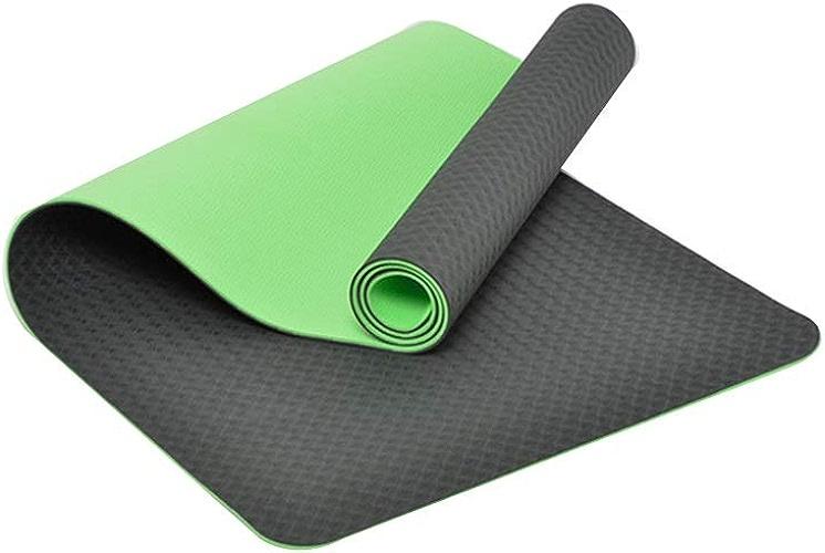 L-HOME Tapis de Yoga Tapis de Fitness TPE   183cm  61cm  6mm   Tapis de Yoga pour Le Massage de Danse (Couleur   Bamboo Cyan)
