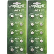 LOOPACELL / AG3 / LR41 / 392 / 192 / 384 / 1.5V Alkaline Watch Battery x 20