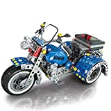 TRCS 709 piezas de maqueta de motocicleta, rompecabezas 3D de metal, triciclo, para montar uno mismo, puzle de metal, juguete compatible con motos Lego