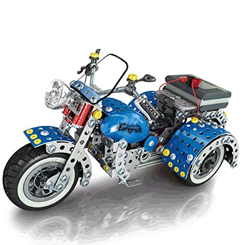 TRCS 709 piezas de maqueta de motocicleta, rompecabezas 3D de metal, triciclo,...