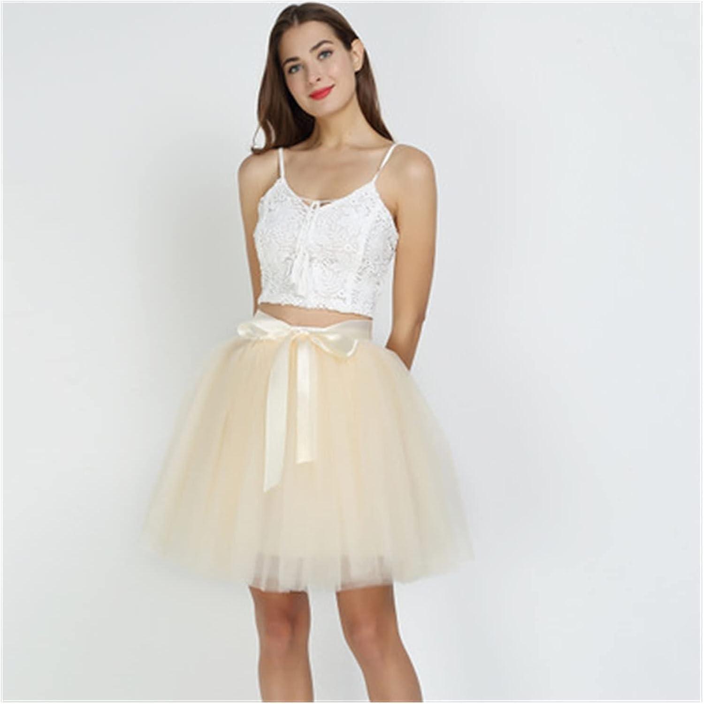 LSXLSD 7Layered 50cm Tutu Tulle Skirts High Sales for sale Omaha Mall Waist D Womens Swing