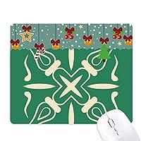 緑の装飾的なパターンは、タラベラスタイル ゲーム用スライドゴムのマウスパッドクリスマス