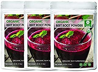 Organic Beet Root Powder, 3 lbs (3 Packs of 1lb Each) by Naturevibe Botanicals, Raw & Non-GMO | Nitric Oxid...