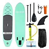 YUEBO 305cm Aufblasbares SUP Stand-up Paddel Board 15cm Dickes, iSUP Paddle Board mit Doppelhub-Pumpe + 3-TLG. verstellbares Paddle + Grosse Tragetasche