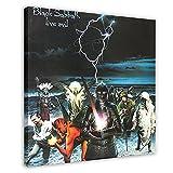 Black Sabbath Live Evil Leinwand-Poster, Wandkunst, Dekor,