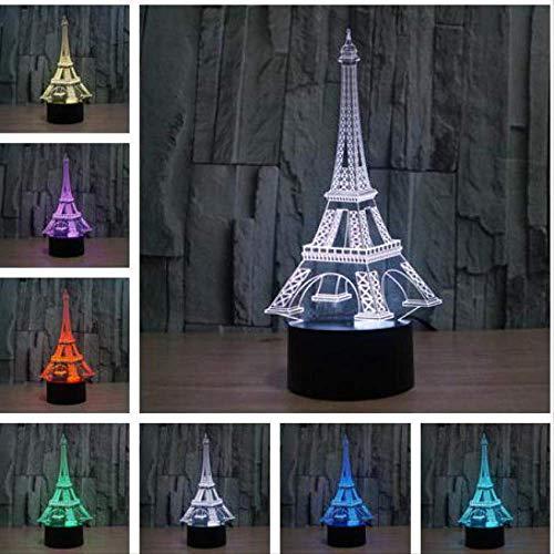 Pirámide Torre Eiffel Lámparas De Mesa Estatua De