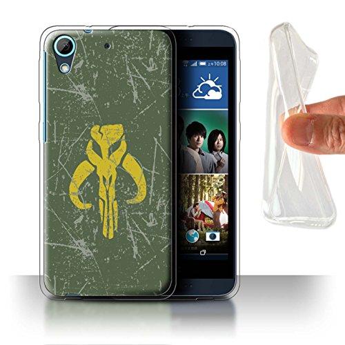 Hülle Für HTC Desire 626G+ Galaktisches Symbol Kunst Kopfgeldjäger Inspiriert Design Transparent Dünn Weich Silikon Gel/TPU Schutz Handyhülle Case