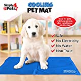 My Garden Dog Cooling Mat - Non-Toxic Gel Cushion Cooling Mat for Dogs - Large Dog Mat to Stop Overheating - 60x45cm