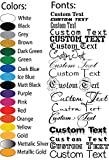Personalized Design Your Own Name - Custom Vinyl Sticker Car Window - Boat - Yeti Lettering JDM Automotive Windshield Graphic Name Letter Auto Vehicle Door Banner - Custom Vinyl Decal -