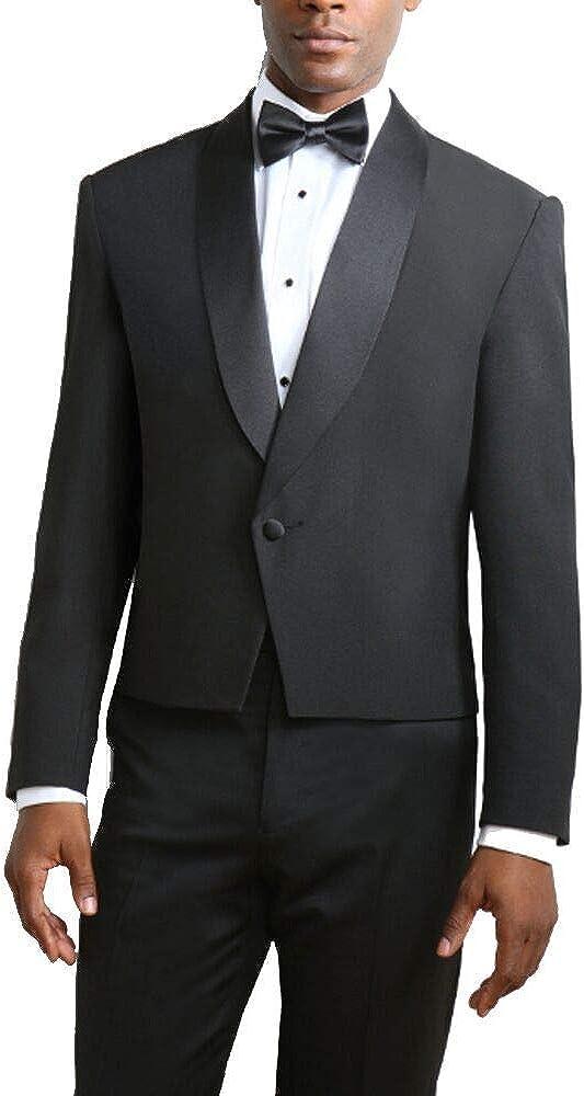 Men's Black One Button Shawl Eton Jacket