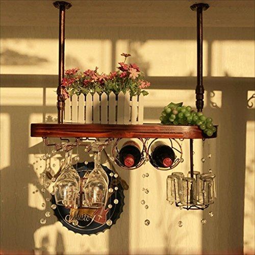 Bar Counter Nordic Style Restaurant Huishoudelijke Wijnglas Omgekeerde Rack Retro Iron Art, BGJ 60*28cm