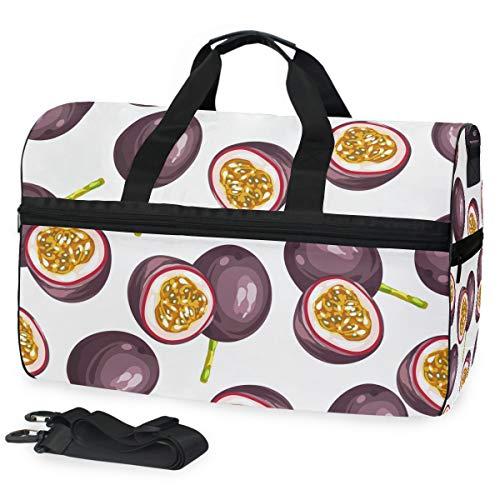 FANTAZIO Passion Fruit Schilderij Sport Duffle Bag Gym Bag Reizen Duffel met Verstelbare Band